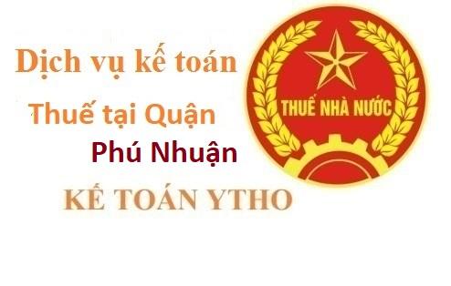 Dịch vụ kế toán thuế tại quận Phú Nhuận