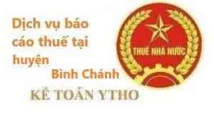 Dịch vụ báo cáo thuế huyện Bình Chánh