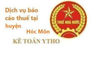 Báo cáo thuế huyện Hóc Môn