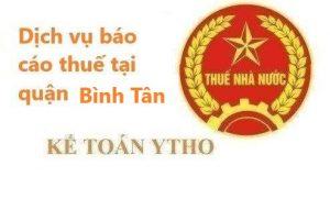 Báo cáo thuế quận Bình Tân