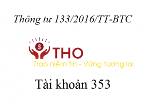 Hướng dẫn định khoản tài khoản 353 theo thông tư 133