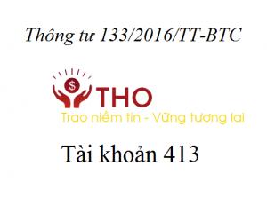 Hướng dẫn định khoản tài khoản 413 theo thông tư 133