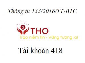 Hướng dẫn định khoản tài khoản 418 theo thông tư 133