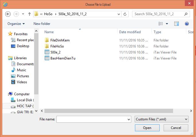 File Bảo hiểm điện tử trên máy