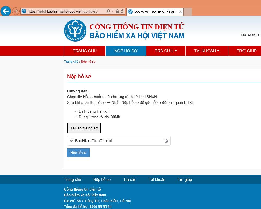 Nộp hồ sơ Bảo hiểm điện tử