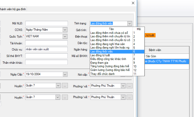 Báo giảm lao động trên phần mềm kbhxh