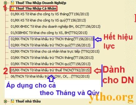 Lập tờ khai thuế TNCN theo tháng/ quý