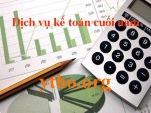 dịch vụ kế toán cuối năm