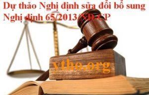 Dự thảo Nghị định sửa đổi bổ sung Nghị định 65/2013/NĐ-CP