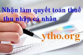 Nhận làm quyết toán thuế thu nhập cá nhân