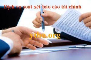 Dịch vụ soát xét báo cáo tài chính