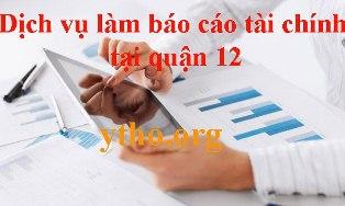 Dịch vụ làm báo cáo tài chính tại quận 12
