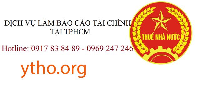 Dịch vụ làm báo cáo tài chính tại TPHCM